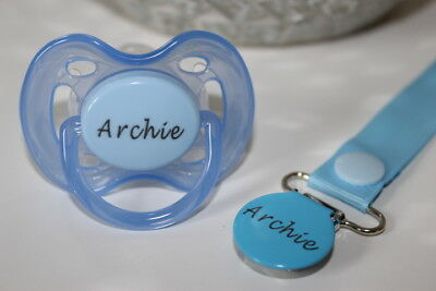 Personalised Dummy Avent *0-6 M* Avent Dummy & Dummy Clip *Can Be Sterilised*