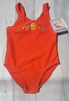 Brightbots Bright bots UPF50+ Baby Size 1/ weight 12kg Swimming Costume Red