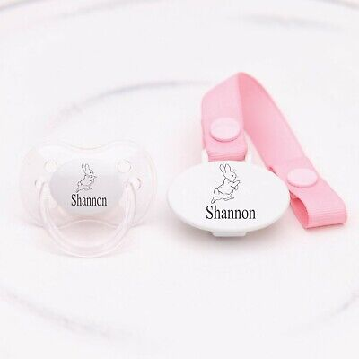Personalised Dummy 0-6 & 6-18 Months Cherry Teat *Can Be Sterilised*
