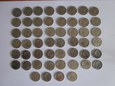 5 cent coin set 1966 to 2018, includes 1972 and both 2016 coins