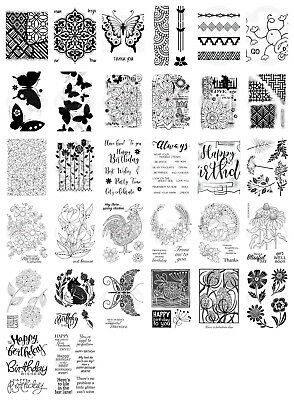 Woodware Clear Singles Stamps - Sept 2018 - NEW - AS SEEN ON TV - CHOOSE
