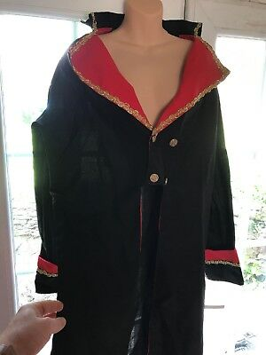 Goth/Victorian/Pantomime/stage 3/4 Jacket With Tails