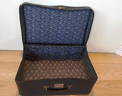 Vintage suitcase lined possibly liberty print? 1940's shabby chic genuine