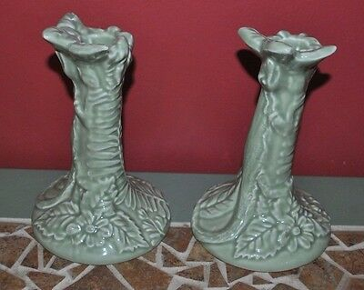 Vintage 1930's? Porta Made In Portugal Candlesticks Art Deco