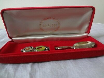 Souviner Spoon - Commemorate The Marriage Of H.r.h. Pr. Charles & Lady Diana Sp.