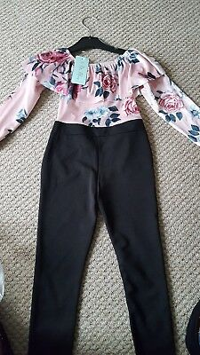 girls jumpsuit age 6 in pink