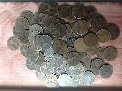 Job Lot Of 100+ Victoria Young & Old Head Pennies 1860s to 1901
