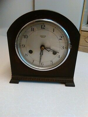 1950's Smiths-Enfield Mantle Clock - Working - Needs Attention (1173)