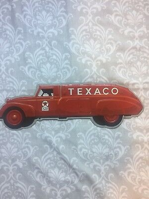 Texaco-Vintage Style- Gasoline Truck-Sign-Decor-Red Truck-Gas And Oil*