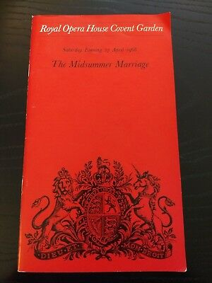 27th April 1968 Royal Opera House Covent Garden programme The Midsummer Marriage