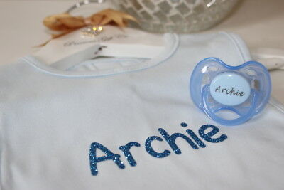 Personalised Dummy Avent & Bib *More Colours* Avent Dummy *Can Be Sterilised*
