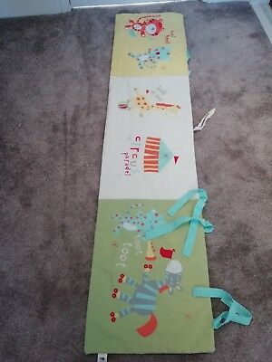 Mothercare baby cot bumper - circus theme - good used condition