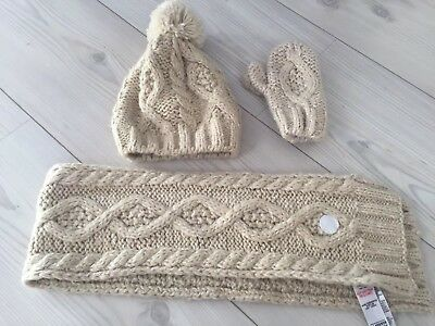 Toddler Hat, Scarf And Mittens M&S 18-36 Months