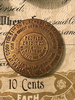 Rochester, NY .. People's Credit Co.. Swastika Good Luck Token