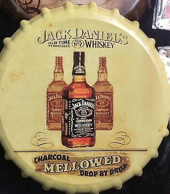 Jack Daniels Blechschild 34 cm Kronenkorken OVP Old time Tennessee WHISKEY RETRO