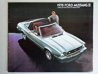 1978 Ford Mustang Ii Sales Catalog