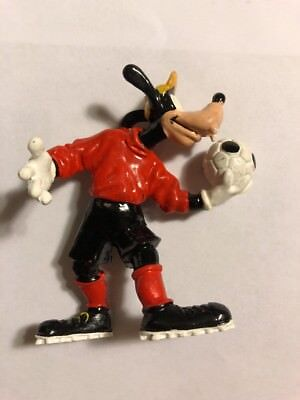 "Disney Bullyland Goof Soccer Player Handpainted 4"" Figurine Made In Germany ES3"