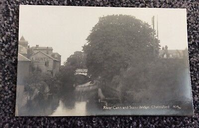 Early Real Photo Postcard River Cann& Stonebridge Chelmsford Essex