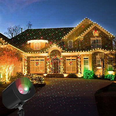 LED Red & Green Laser Projector Light HomeGarden Outdoor IP65 Waterproof Xmas MY