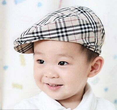 Baby Kid Child Boys Beret sun cool handsome Cabbie Golf Pageboy Check Hat Cap