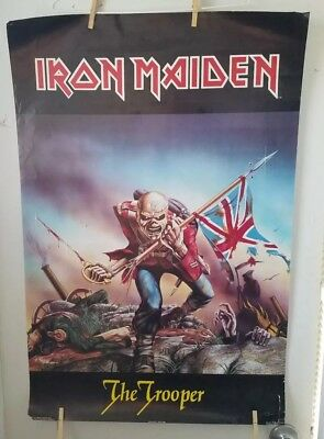 Vintage 1984 Original Iron Maiden The Trooper Poster 23 X