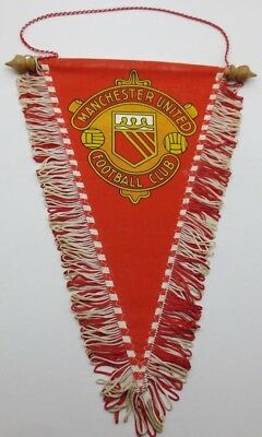 Vintage Manchester United Football Club Pennant. Old Trafford Red Devils MUFC
