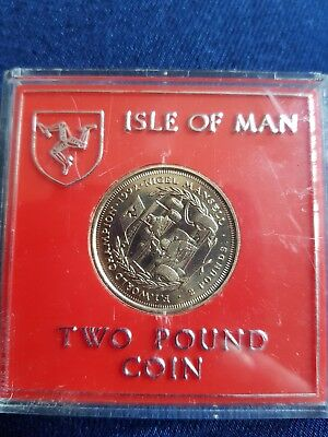 Isle Of Man Nigel Mansel uncirculated £2 Coin 1993 ( no die mark )