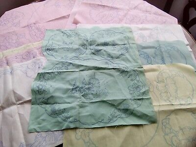 Large quantity vintage Irish linen stamped to embroider unused
