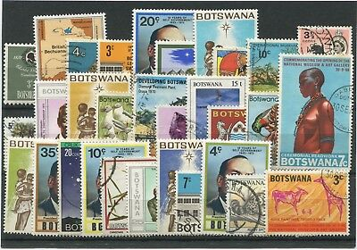 "BOTSWANA -  30  Stamps  ""  ALL  DIFFERENT  "" ."