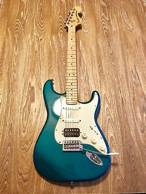 FENDER DELUXE LONE Star Stratocaster Electric Guitar Turquoise ... on fender stratocaster guitars, fender stratocaster tone controls explained, fender american deluxe stratocaster, fender stratocaster wiring-diagram, fender stratocaster schematic diagram,