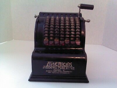 Vintage American Adding Machine Model 5,   American Can Co Chicago ILL.