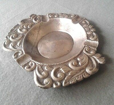 19th Century Peruvian Handcrafted Spanish Colonial 900 Silver Cigar Ashtray