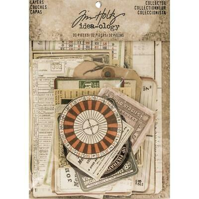 Tim Holtz Idea-Ology - Layers Cards - Collector - 33 Pieces