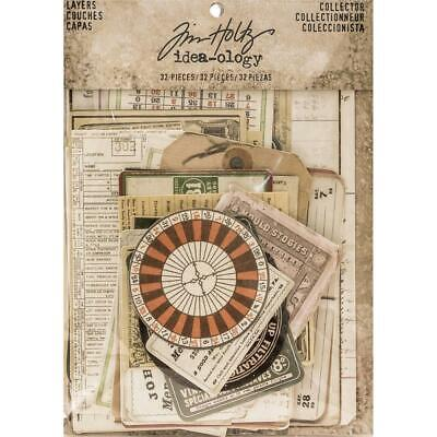 Tim Holtz Idea-Ology - Layers Die Cuts - Collector - 33 Pieces
