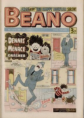 The Beano Comic #1678 September 14th 1974 - very good condition