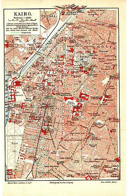 Antique map. CITY PLAN OF CAIRO. EGYPT. AFRICA. 1905