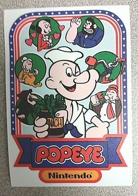 Popeye cabinet art sticker. 3 x 4.75. (Buy any 3 of my stickers, GET ONE FREE!)