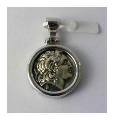 ALEXANDER THE GREAT GREEK COIN BIG SIZE sterling silver 925 1004