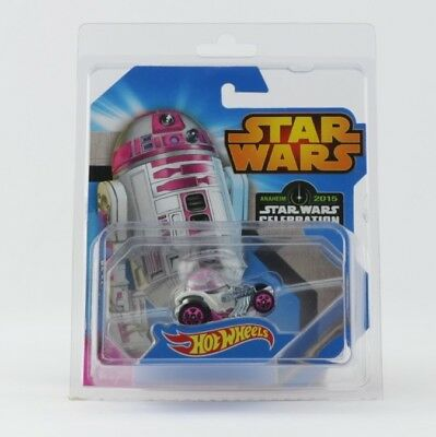 Star Wars Celebration 2015 Anaheim R2-KT Hot Wheels Pink R2-D2 R2D2 case fresh
