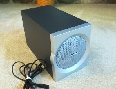 Bose Companion 3 Multimedia Speaker System Sub Woofer and AC Cable