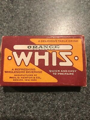 Orange Whiz Box Of Tablets Table Drink 1920s