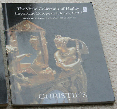 Chistie's The Vitale Collection of Highly Important European Clocks part 1 1996