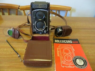 Rolleicord Vb1 F&H TLR vintage camera and extras, Vb2625279, nice condition