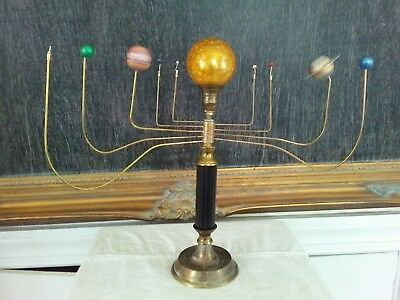 Antiqued planetarium Orrery by South Carolina artist, Will S. Anderson