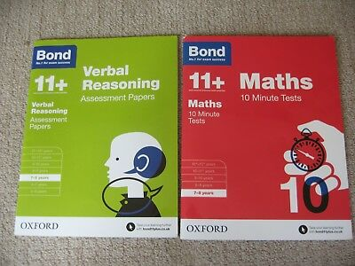 Bond Papers and Tests 11+ Verbal Reasoning & Maths 7-8 years