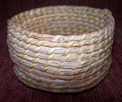 "Authentic Early Native American Basket 4"" x 2"" in excellent vintage condition"