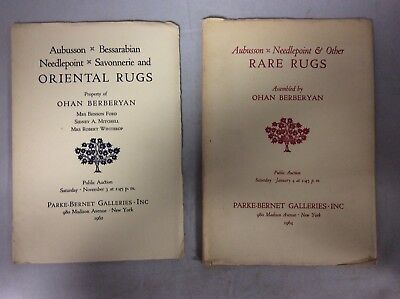 Oriental and Rare Rugs Parke Bernet Lot of 2 Auction Catalogues 1960s 60s Art