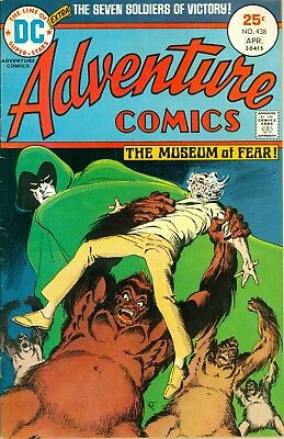Adventure Comics #438. Mar-Apr 1975. DC. Spectre and 7 Soldiers of Victory. VG+.