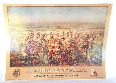 Lithograph Custers Last Fight Anheuser Busch Dover Publications Pre Own 22 x 29