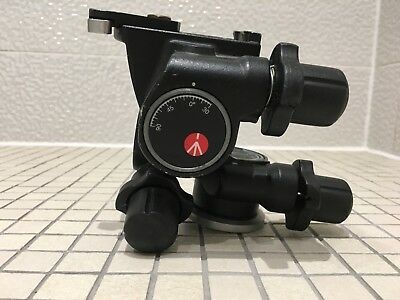 Manfrotto 410 Geared Tripod Head  with 2 quick release plates